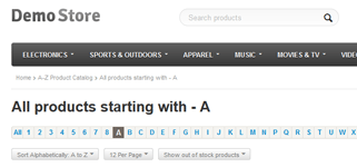A-Z Product Catalog